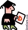 Vector Clip Art image  of a graduation