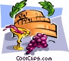 wine and grapes Vector Clipart illustration