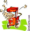 popcorn machine Vector Clip Art picture