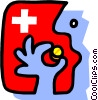 Vector Clipart graphic  of a taking medication - symbol