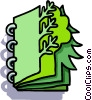 Vector Clip Art graphic  of a tree book