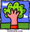 Vector Clipart picture  of a tree - hand