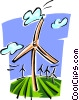 Vector Clip Art image  of a wind power