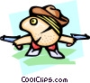 cowboy - cartoon Vector Clip Art image