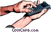 Vector Clipart graphic  of a Hand with calculator