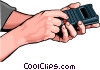 hands with remote Vector Clipart illustration