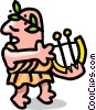 Vector Clipart picture  of a man in toga - cartoon