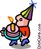birthday boy - cartoon Vector Clip Art graphic