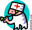 Vector Clip Art picture  of a doctor - cartoon