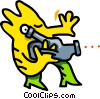 Vector Clip Art image  of a taking a video - cartoon