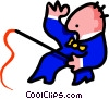 man with whip - cartoon Vector Clip Art image