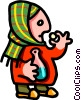 Vector Clipart image  of a to cure a cold - cartoon