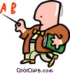 teacher - cartoon Vector Clipart image