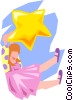 dreaming/hanging on a star Vector Clip Art image