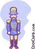 Vector Clipart graphic  of a toy soldier in snow