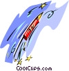 Vector Clip Art picture  of a Fireworks - abstract