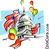 Vector Clip Art graphic  of a Washington celebrates