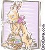 Vector Clipart image  of a Easter bunny