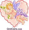 cupid in valentine Vector Clipart illustration