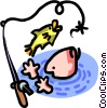 fish out of water Vector Clip Art picture