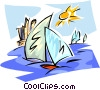 sail boats Vector Clipart illustration