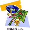 Vector Clip Art image  of a roulette two