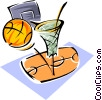 Vector Clip Art image  of a basketball