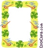 border for St. Patrick's Day Vector Clipart picture