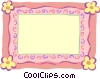 Vector Clip Art graphic  of a border with flowers