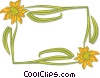 Vector Clipart image  of a flower border