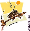 Native American symbols three Vector Clipart picture