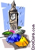 Vector Clip Art picture  of a Tower of London - symbol