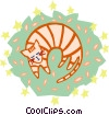 Vector Clip Art image  of a cat