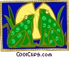 Vector Clipart graphic  of a frogs