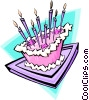 Birthday cake - abstract Vector Clip Art graphic