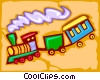 Vector Clip Art image  of a train - abstract