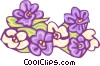 Vector Clip Art graphic  of a purple flowers