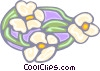 water lilies stained glass Vector Clipart illustration