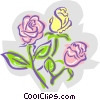 Vector Clipart graphic  of a Roses - abstract