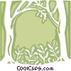 Vector Clip Art graphic  of a forest - abstract