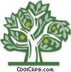 Vector Clipart illustration  of a lemon tree