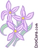 Vector Clipart picture  of a star flowers