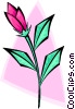 rosebud - abstract Vector Clipart graphic