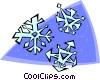 Vector Clipart illustration  of a snowflakes