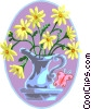 Vector Clip Art picture  of a Pitcher of flowers