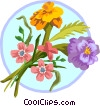 Vector Clipart image  of a Marigold bouquet
