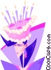 Birthday cake hat - abstract Vector Clipart picture