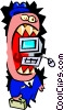 computer mouth - cartoon Vector Clipart picture