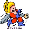 fireman and socket - cartoon Vector Clip Art picture