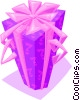 Vector Clipart graphic  of a wrapped gift